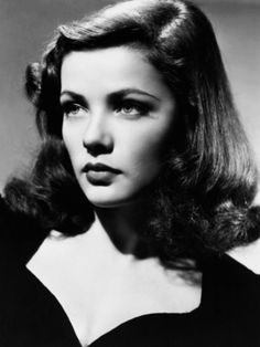 The gorgeous Gene Tierney.  Perfect 40's hair and 40's neckline.