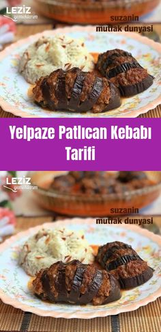 Yelpaze Patlıcan Kebabı Tarifi - Leziz Yemeklerim - Et Yemekleri - Las recetas más prácticas y fáciles Colored Hair Tips, Kebab Recipes, Food Articles, Eggplant Recipes, Kebabs, Homemade Beauty Products, Meal Planning, Muffin, Dinner Recipes