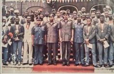 Throwback pic of Buhari receiving the Golden Eaglets after winning the U17 championship in 1985 - http://www.scoop.ng/2015/11/throwback-pic-of-buhari-receiving-the-golden-eaglets-after-winning-the-u17-championship-in-1985.html/