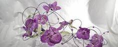 Paarse bloemdecoratie