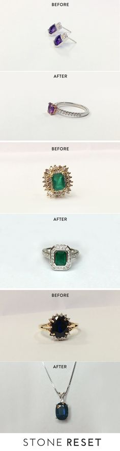 Love the stone but hate the ring? It's time for a ring makeover!  Keep the meaning behind the stone. Create the ultimate before and after look with Stone Reset