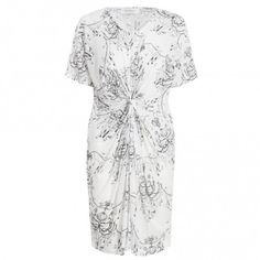 Valiant print knot T dress- to throw over bathers walking to and from beach #zimmermanngoesto