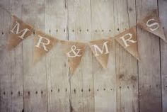 burlap mr and mrs sign - Google Search