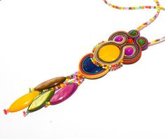 Manufakturamaanuela  soutache: colourful bird. $37.00, via Etsy.