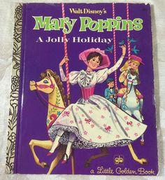 Vintage Little Golden Book Walt Disney's Mary Poppins a Jolly Holiday- #D112 39₵