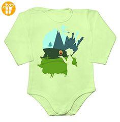 Moving Castle Minimallistic Design Baby Long Sleeve Romper Bodysuit Extra Large - Baby bodys baby einteiler baby stampler (*Partner-Link)