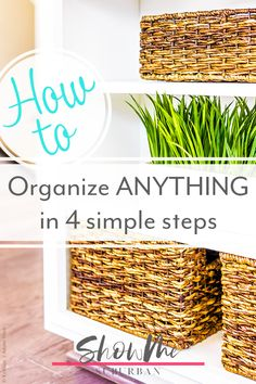 I wanted to get organized, but I wasn't sure how. This simple step by step process for how to organize any area of your home was an awesome guide for me! These tips and ideas helped me declutter, purge, and organize my way to bliss! Organized Entryway, Organized Bedroom, Organized Kitchen, Game Organization, Entryway Organization, Laundry Room Organization, How To Organize Your Closet, Declutter Your Home, Organizing Your Home