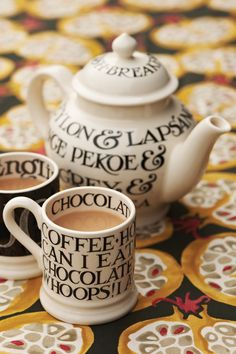 Beautiful pottery handmade and hand painted in Britain. Iconic home wares, tableware & personalised gifts for all the family . Emma Bridgewater Pottery, Hand Painted Mugs, Red Kitchen, Personalized Mugs, Chocolate Coffee, Tea Time, Tea Party, Tea Cups, Cath Kidston