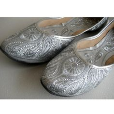 Silver Sequin Bridal Ballet Flats/Silver Paisley by Enhara on Etsy