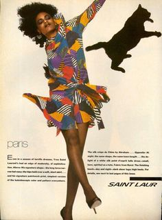 Vogue US 1982 Photo by Bill King Model Wanakee Pugh