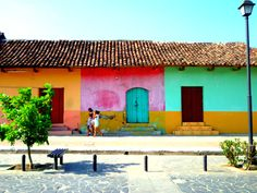 Des maisons colorées à Grenade, au Nicaragua!