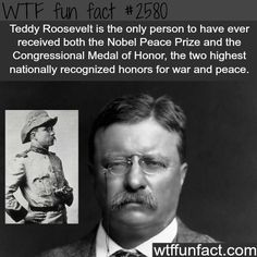 WTF Facts : funny, interesting & weird facts — Teddy Roosevelt, stuff you never know about him. Wtf Fun Facts, Funny Facts, Random Facts, Crazy Facts, Strange Facts, Weird History Facts, Random Stuff, Funny Stuff, Funny History