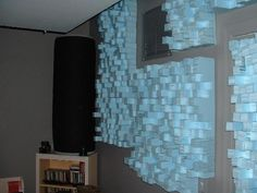 DIY styrofoam acoustic diffusor