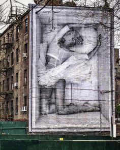 JR artist NYC second av and first str