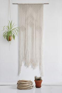 Wall Art – Geometric macrame wall hanging – a unique product by California-Dreaming on DaWanda
