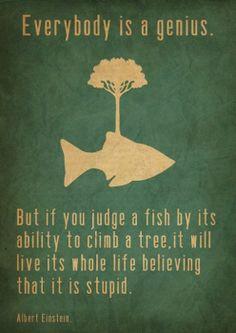 Albert Einstein's genius words...
