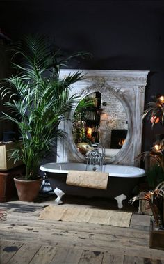 50 Trending 2018 Jungle Bathroom Design - Home Design Bad Inspiration, Bathroom Inspiration, Bathroom Ideas, Bathroom Organization, Bath Ideas, Curtain Inspiration, Restroom Ideas, Bathroom Cleaning, Bathroom Designs