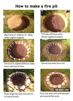 Building your own outdoor fire pit