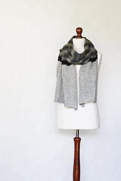 Gray scarf knit scarf shawl wrap women shawl by KnitwearFactory