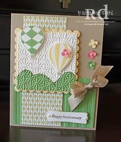 the embossed texture completely changes the effect of this stamp set.  This would be a cute baby shower card, too.