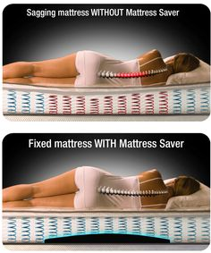 Mattress Saver quickly fixes mattress sags. Sore Lower Back, Spine Health, Gym Workout For Beginners, Pilates, Best Mattress, Ad Design, Back Pain, Gym Workouts, Cool Things To Buy