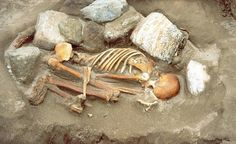 """Cladh Hallan """"woman"""". - In 2001, archaeologists working on the island of South Uist in the Hebrides discovered several curious skeletons. They were flexed in an unusual manner and buried, rather than cremated, which was the fashion during the period that produced them."""