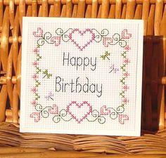 Birthday Card, Cross Stitch Kit No. 097 | eBay
