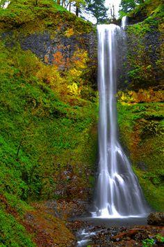 Oregon Waterfall Photography Print 11x14 by WildWildernessPhotos