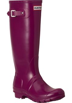 Hunter Boots - Original Glossy Rain Boot Violet