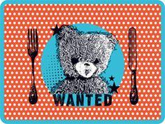 Sets de table enfants motifs ourson et lapin / Création Bianca & Family