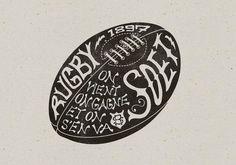 Rugby illustration. (artist unknown)