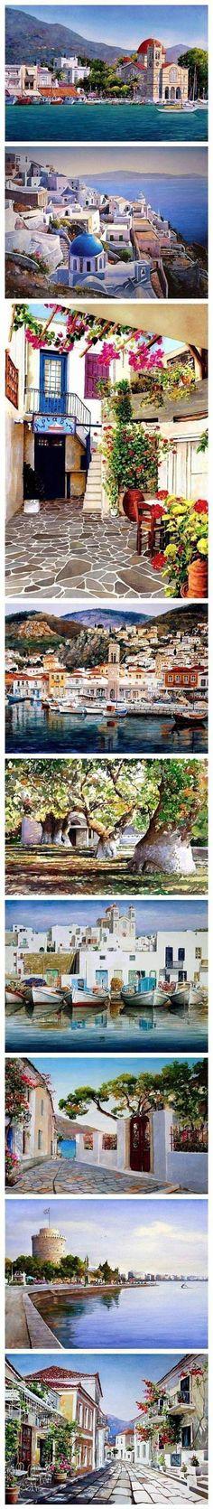Watercolor By Pantelis Zografos