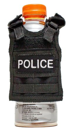 Miniature Tactical Vest Beverage Koozie  POLICE by RescueTees, $12.99