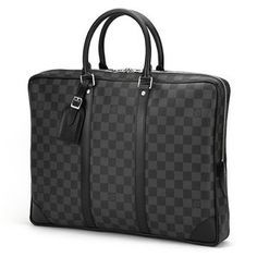 Louis Vuitton(ルイヴィトン) ダミエ・グラフィット ポルト ドキュマン・ヴォワヤージュ N41125 ブリーフケース メンズ ブラック - 拡大画像
