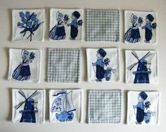 Dutch Delft Blue Memory Game by virginiaotten on Etsy, €28.00