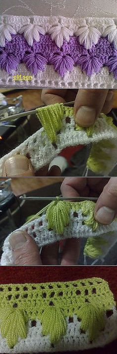 Crochet_tutorial -- a beautiful stitch in as much color as you can fit in! #KnittingGuru                                                                                                                                                      Más
