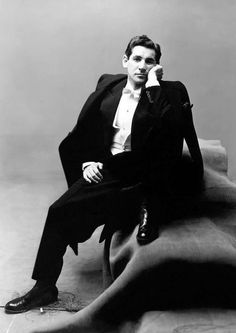 Irving Penn, Leonard Bernstein, for Vogue Magazine. Copyright of The Irving Penn Foundation. Irving Penn Portrait, Vogue New York, Wearing A Tuxedo, Leonard Bernstein, Portraits, Vogue Magazine, Famous Faces, Classical Music, Old Hollywood