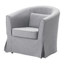Ikea Ektorp Tullsta Chair Cover Nordvalla Medium Gray (Chair Cover Only) New