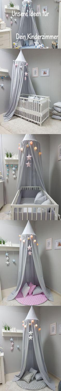 Baldachin  Moskitonetz 2in1 für jedes Kinderbett Kinderzimmer