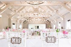Stoke Place Country House | Elegant Wedding | Pink Blooms | DIY Decor | Source Images | http://www.rockmywedding.co.uk/victoria-ken/