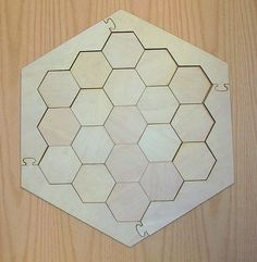 $22!!! this board is laser cut and is 1/4 thick x 17 x 17 the 19 hexagons are 3 1/8 flat to flat the expansion set is also available at