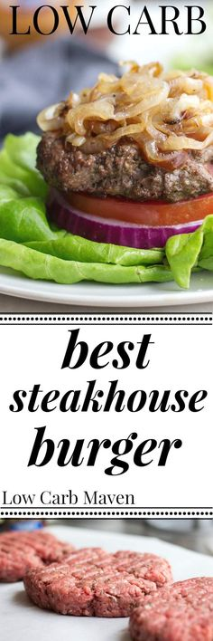 """These Low Carb Steakhouse Burgers are being dubbed """"the best burgers"""" and only…"""