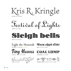 Fonts I like for Christmas