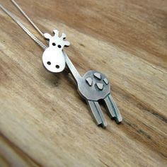 Sterling Silver Giraffe Necklace with Gift by JewelleryFurKeeps, £45.00