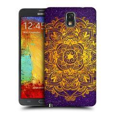 Head Case Designs Gold Mandala Doodles Design for Samsung Galaxy Note 3 N9000 N9002 N9005