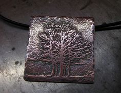Etched Trees, Mistletoe and a GiveAway Draw – Day 31 Metal Jewelry, Charm Jewelry, Do It Yourself Jewelry, Tree Pendant, Mistletoe, Giveaway, Charms, Copper, France