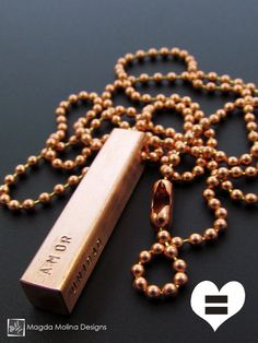 The PAZ, AMOR & UNIDAD Copper Omnisex Necklace