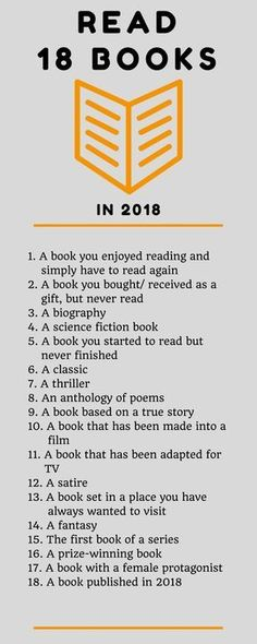 Challenge yourself to read 18 books in 2018. Here are ideas that I hope will inspire me, and you, my reader, to choose your next book.