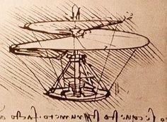 Da Vincis helicopter sketch