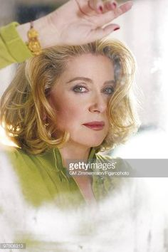 Catherine Deneuve Pictures and Photos Actress Catherine Deneuve poses at a portrait session in Paris France for Madame Figaro Published image CREDIT MUST READ Gilles Marie… Catherine Deneuve, Christian Vadim, Paris France, Pixie, French Beauty, French Actress, Shoulder Length Hair, Grow Hair, Madame